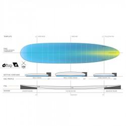 Longboard Torq TEC The Don 9'0''