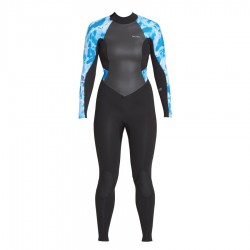 Xcel Women's Axis 4/3 backzip blue camo