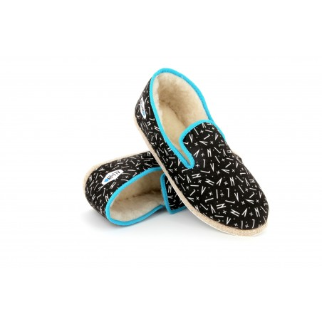 Charentaises All In / Rondinaud turquoise All In print