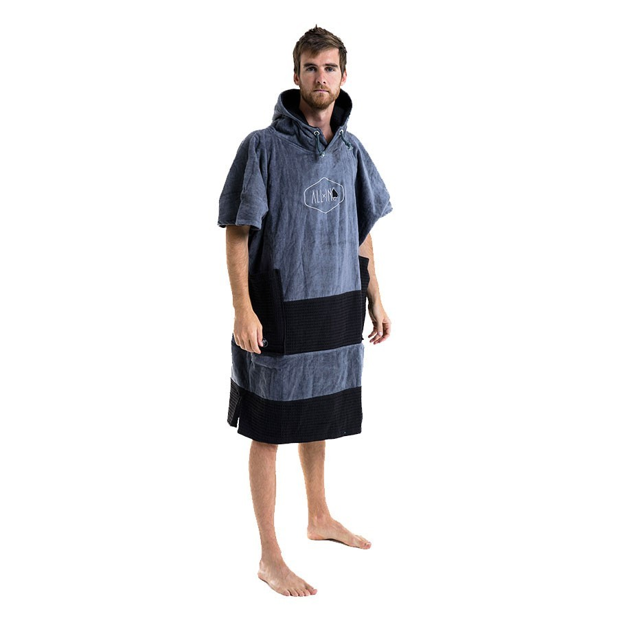 All In Poncho V Bumpy charcoal black waffle