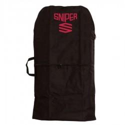 Housse de bodyboard Sniper noire et rouge