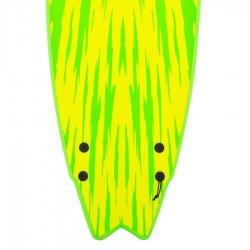 Softech Mason Ho Twin Fin 5'6 lime yellow