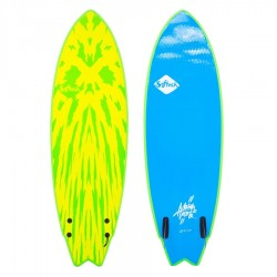 Softech Mason Ho Twin Fin 5'6 lime yellow