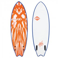 Softech Mason Ho Twin Fin 5'6 red white