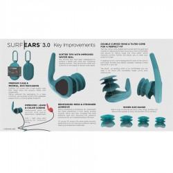 Bouchons d'oreilles Surf Ears 3.0 red teal