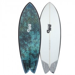 DHD Summer Series Mini Twin 5'9 Futures Fins blue eyes