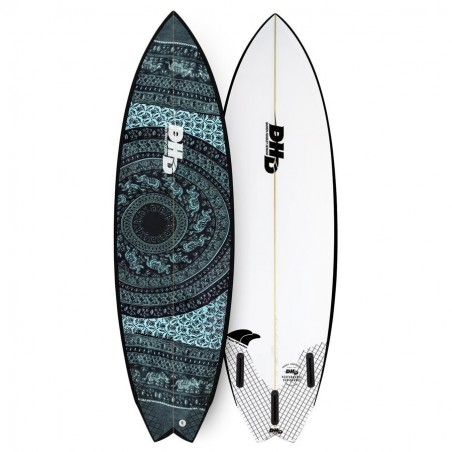 DHD Summer Series Twin Fin 5'8 Futures Fins aztec black