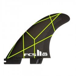 FCSII Kolohe Andino Performance Core Tri Fins set grey yellow medium