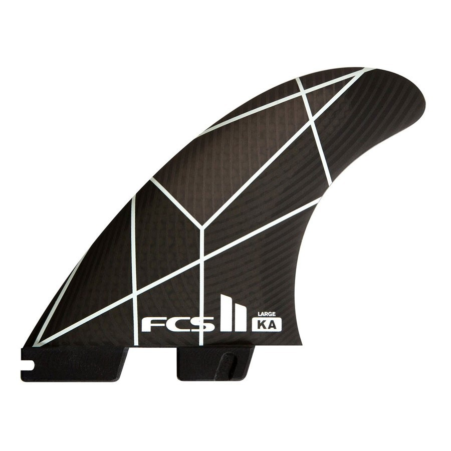 FCSII Kolohe Andino Performance Core Tri Fins set white grey large