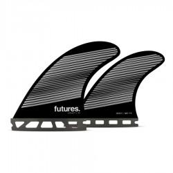 Futures Fins Honeycomb F6 quad fins set smoke gray black