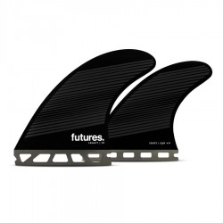 Futures Fins Honeycomb  F8 quad fins set smoke gray black