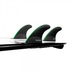 Futures Fins John John-2 Medium Techflex Tri fins set black / neon green