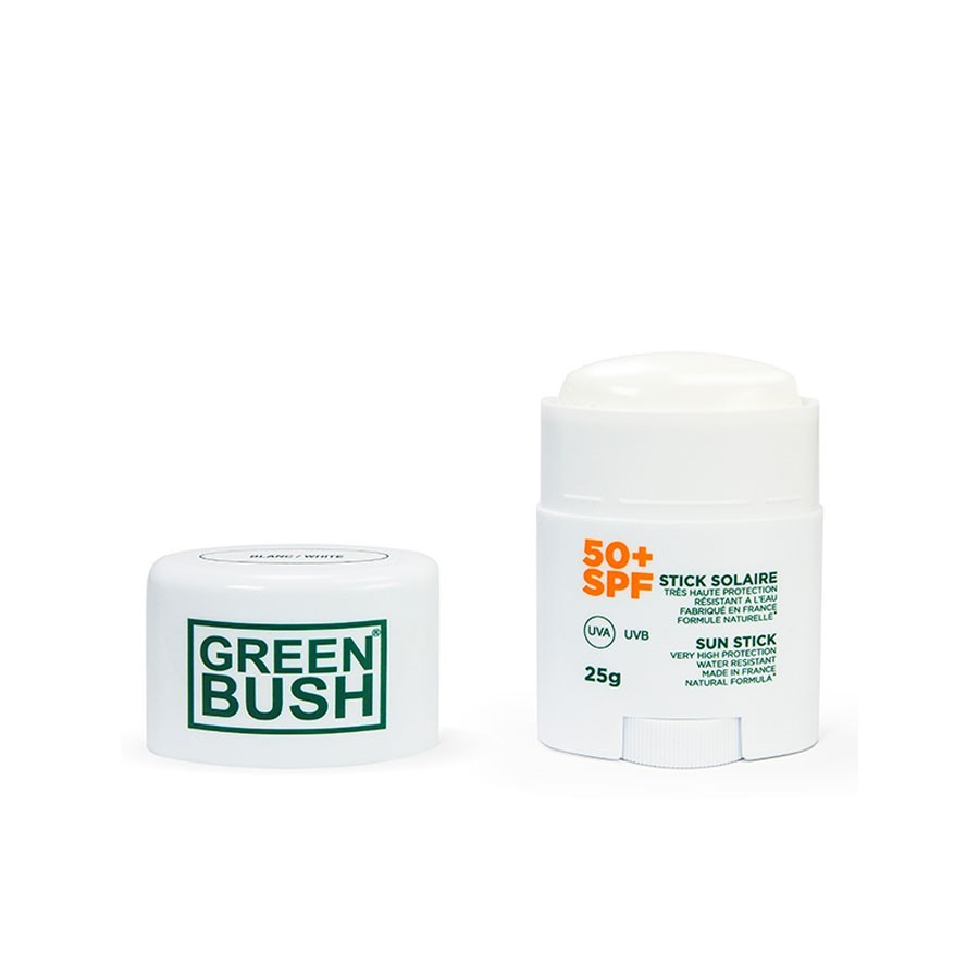 Stick de protection solaire Green Bush SPF50+ Blanc