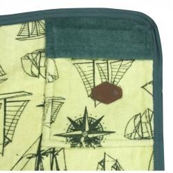 All In  Beach Towel boat print