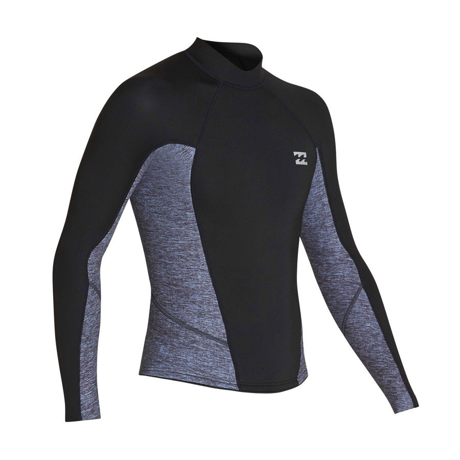 Billabong Top 2mm Absolute Comp manches longues heather grey