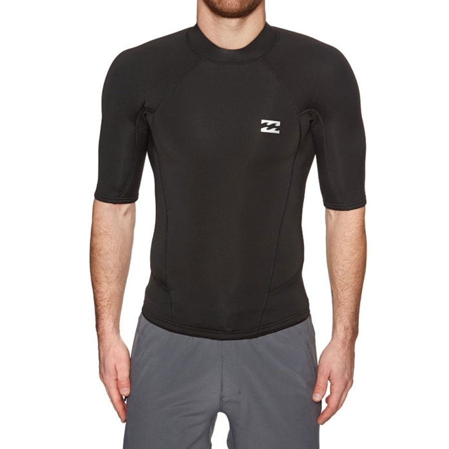 Billabong Top 2mm Absolute manches courtes black silver