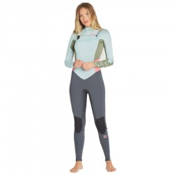 Billabong 3/2 Furnace Synergy chest zip seafoam