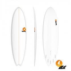 Planche de surf Torq Mod Fish 7'2 Pinline colour white sea green