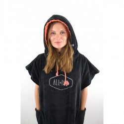 Poncho All In Classic Flash black coral