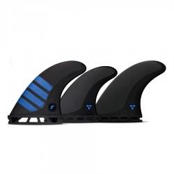 Futures Fins F6 Alpha medium 5 fins set carbon blue