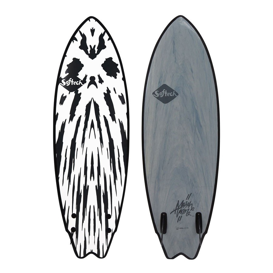 Softech Mason Ho Twin Fin 5'10 gunmetal black