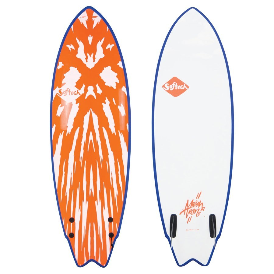 Softech Mason Ho Twin Fin 5'10 red white
