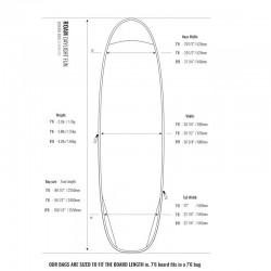 Housse de Surf Funboard Roam Daylight 5mm