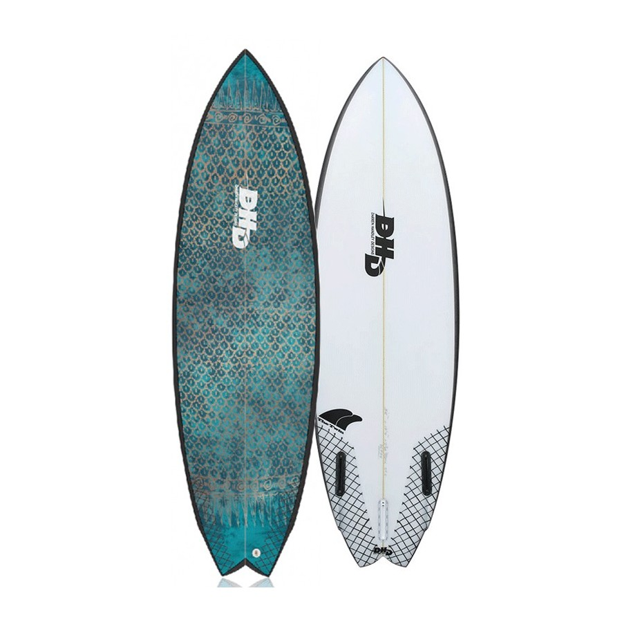 DHD Twin Fin 5'10 blue eyes