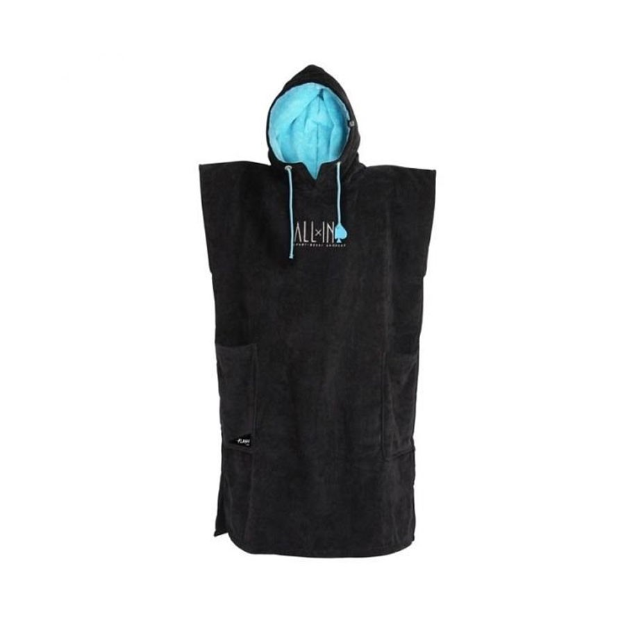 Poncho All In Classic Flash black turquoise