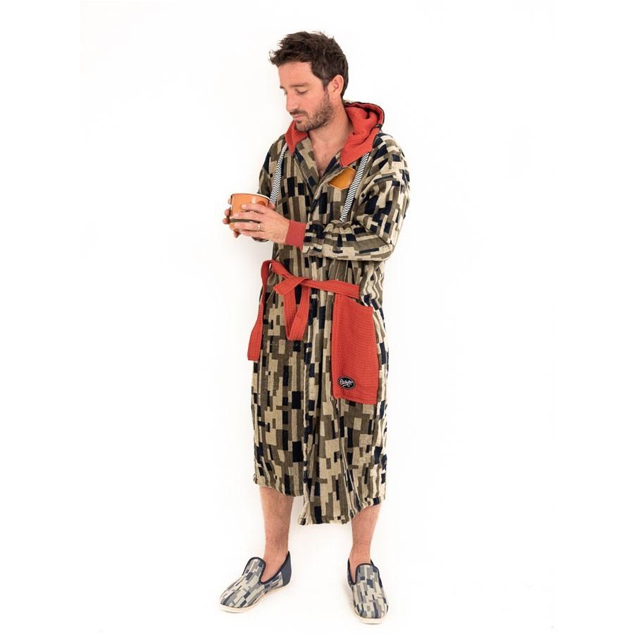 All In Poncho Bath Robe jacquard