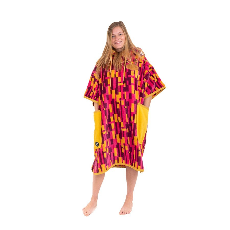All In Poncho T Bumpy jacquard