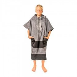 All In Poncho Junior Crew charcoal black