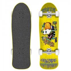 "Skateboard Cruzade Sketchy Is Fun Yellow 9.0"""