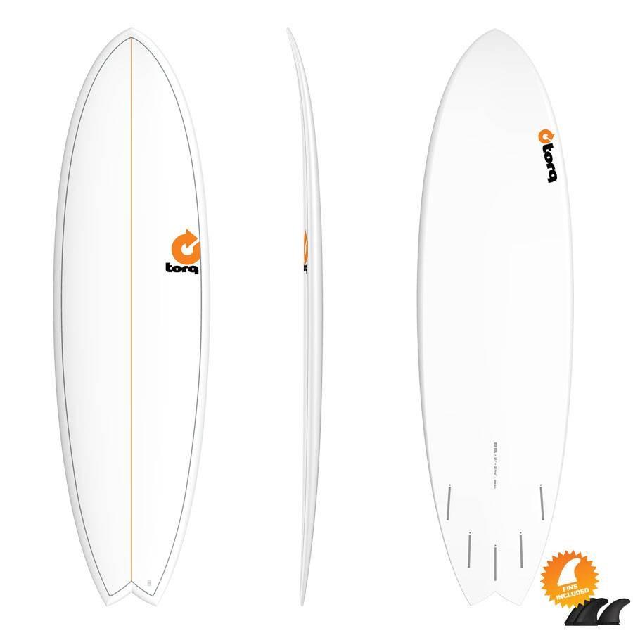 Torq Mod Fish 6'6 Pinline white