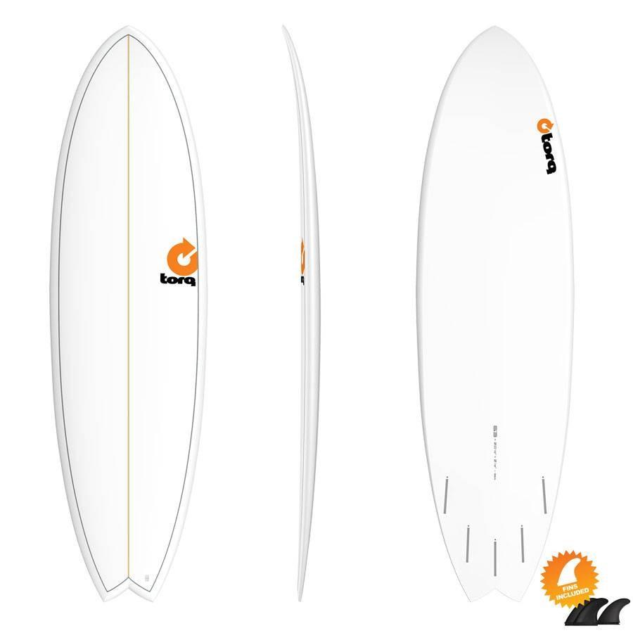 Torq Mod Fish 6'3 Pinline white