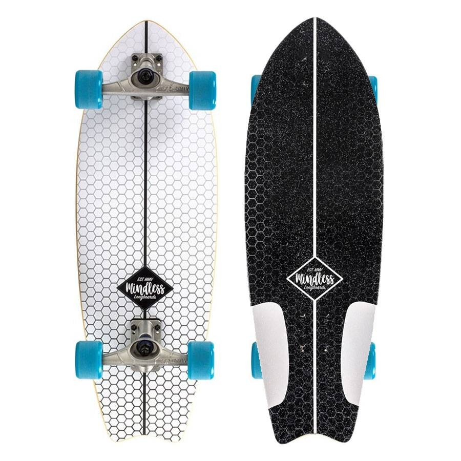 Surfskate Mindless Fish Tail White