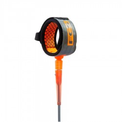 FCS Leash All Round charcoal blood orange
