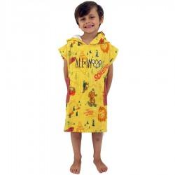 Poncho All In Baby yeti yellow