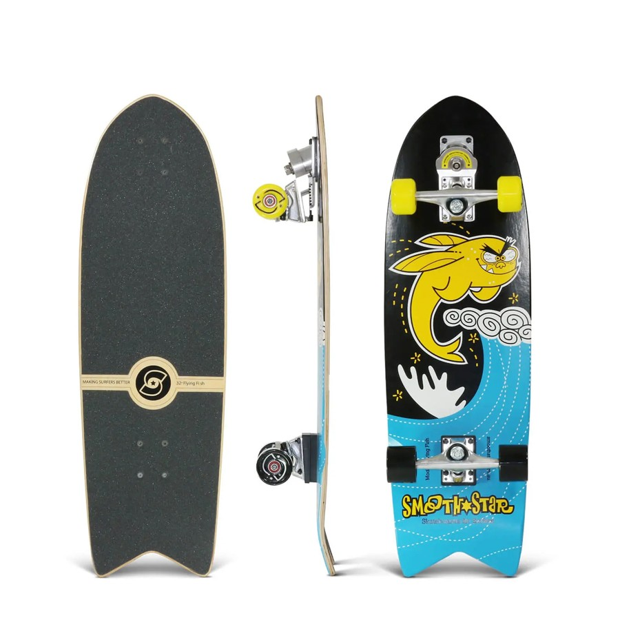 Surfskate SMOOTHSTAR FLYING FISH 32 YELLOW
