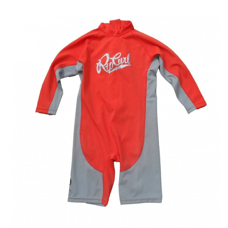 Rip Curl Lycra Kids Option manches Longues Rouge