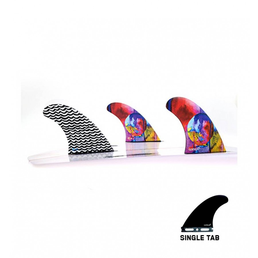 Gorilla Eat Sleep Wave Repeat Tri Fin Set