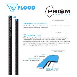 Flood Prism Series 42,5'' Light Blue Orange