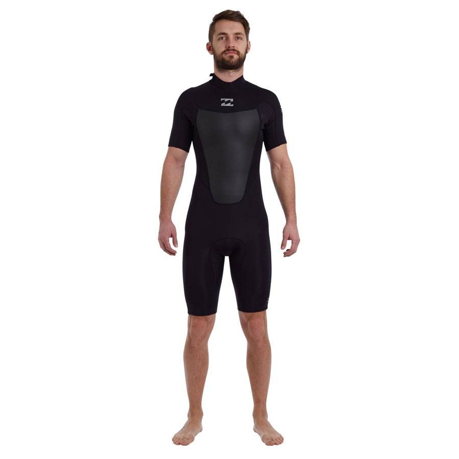 Billabong Foil 2mm Back Zip S/S Graphite Noir