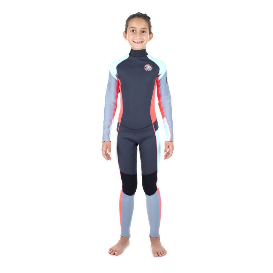 Rip Curl Junior Fille  4/3 Dawn Patrol Back Zip Grise