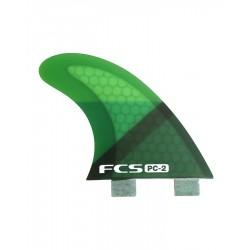 FCS PC2 Green Slice Tri Fin Set