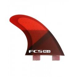 FCS PC3 Red SliceTri Fin Set