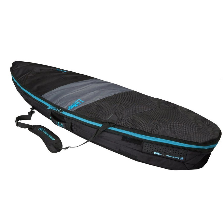 "Housse shortboard 5'8"" Créatures Day Use - Charcoal/Cyan"