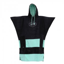 Poncho V All In Black Turquoise