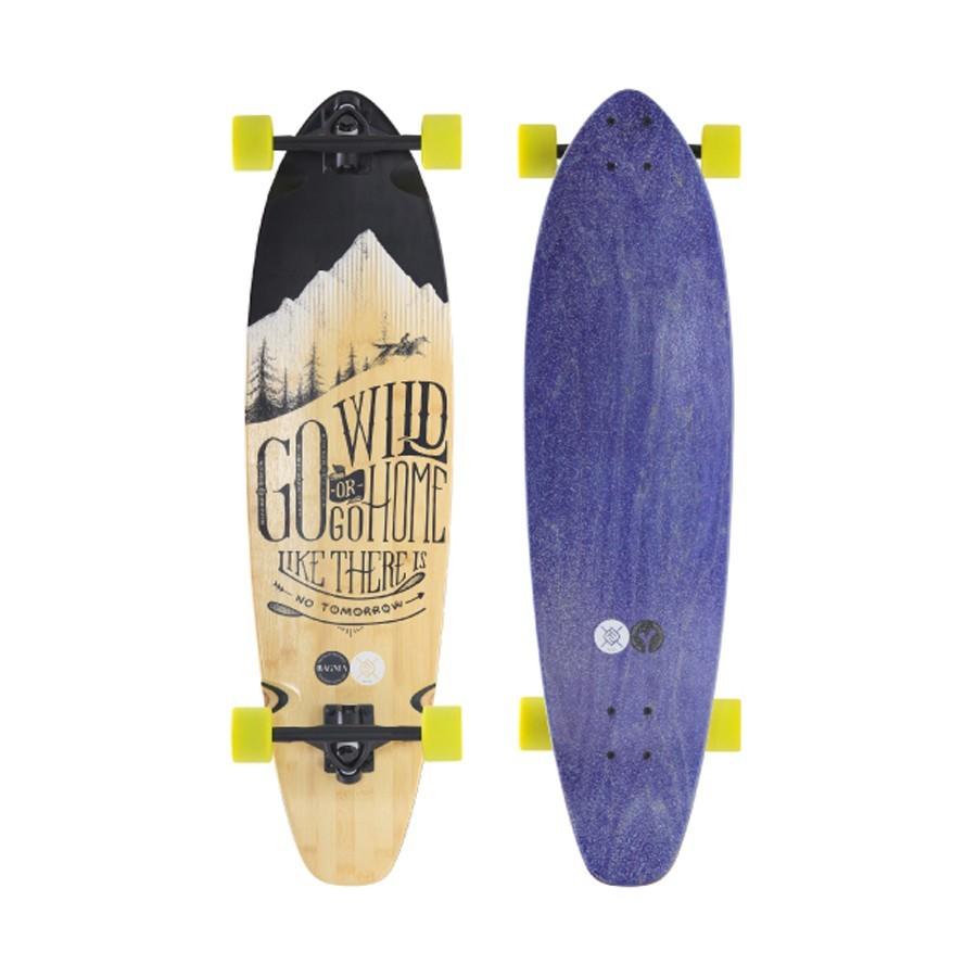 "Longskate Flying Wheels Gowild 37"" bamboo blue"