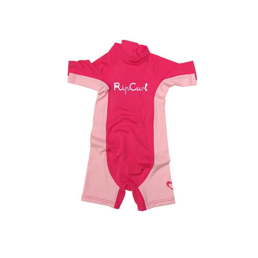 Rip Curl Lycra wetsuit Kids Option manches courtes lime